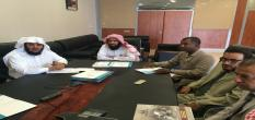 Director and members of the center meet with members of the Admission and Registration 01/13/1436 H