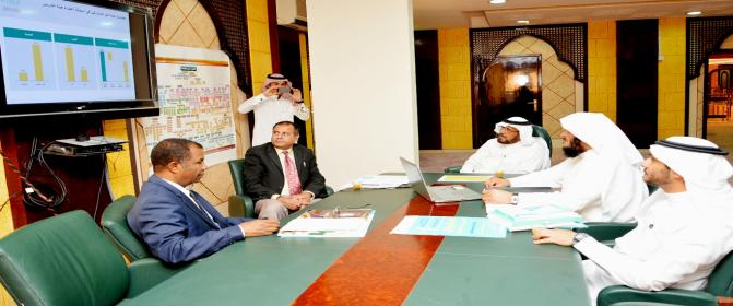 The meeting with Dr. Nasser Aljoaidi
