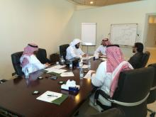 Visit of leading members of the Center for Executive Office of the Aafaq Plan 13/11/1435 H