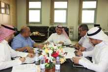 اجتماع وكيل الجامعة للتطوير والجودة مع إدارة التخطيط الاستراتيجي والدراسات